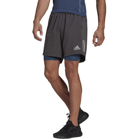 "adidas OWN The Run 2N1 Shorts 7"" Heren, grijs"
